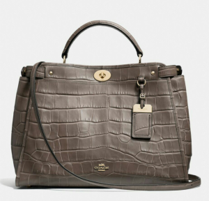 The Gramercy Satchel in croc embossed leather. Beautiful detail!