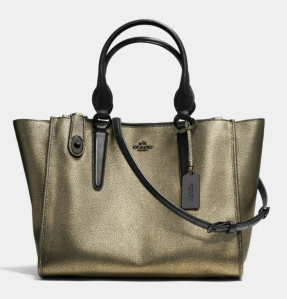 The Crosby Carryall in metallic leather. Go for gold!