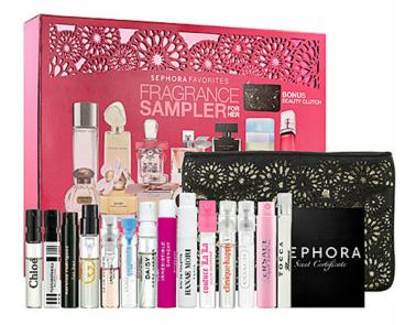 Sephora Favorites fragrance sampler for her, $65. Available at sephora.com