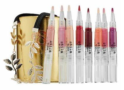 Stila Putting On the Glitz lip glaze set, $42. Available at sephora.com