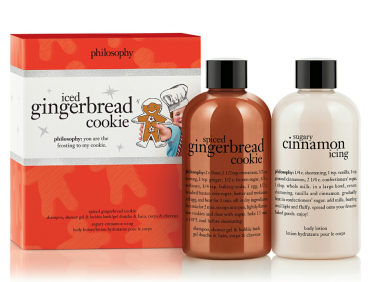 Philosophy Iced Gingerbread Cookie duo, $27. Available at philosophy.com