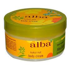 Alba Botanica Hawaiian body cream in Kukui Nut.