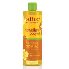Alba Botanica Hawaiian body oil.