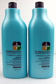 Pureology Strength Cure shampoo and conditioner.