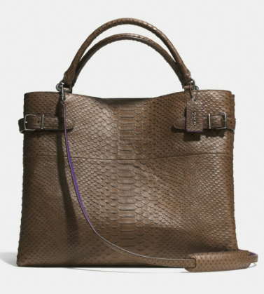 Coach Borough Bag in croc leather. Available at coach.com.
