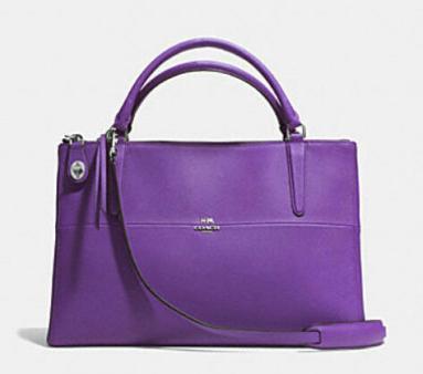 Coach Borough Bag in saffiano leather. Available at coach.com.