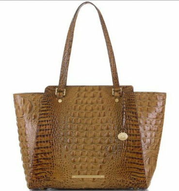 Brahmin Tori Tote in croc embossed leather. Available at brahmin.com or dillards.com.