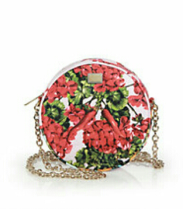 Dolce & Gabbana Mixed Floral Brocade Fan Crossbody Bag