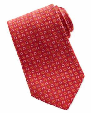 Salvatore Ferragamo Gancini Flower Print Tie $190