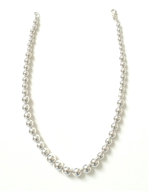 Giani Bernini Sterling Silver Graduated Bead Necklace