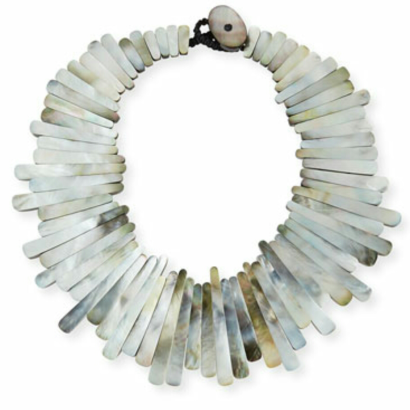 Viktoria Hayman Mother- of-Pearl Statement Collar $450