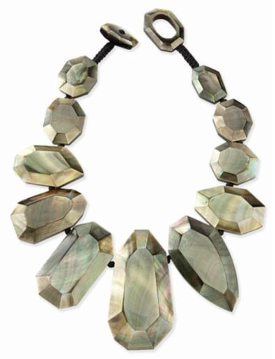 Viktoria Hayman Black Lip Mother-of-Pearl Statement Necklace $495
