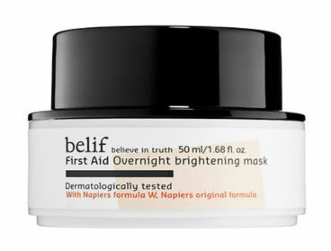 Belif First Aid Overnight Brightening Mask $34