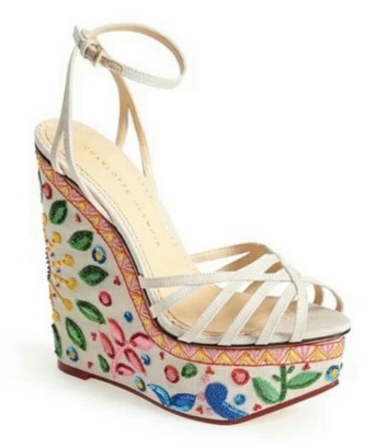 Celebration Meredith Embroidered Wedge Sandal