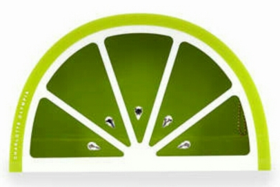 Lime Shape Perspex Clutch