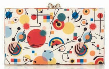 Kandinsky Printed Pandora Clutch