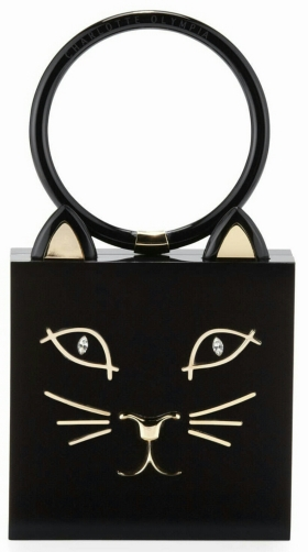 Kitty Square Acrylic Box Clutch
