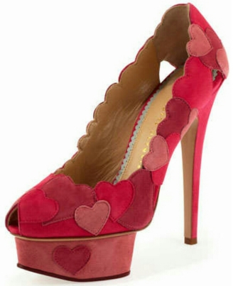 Love Me Heart Applique Pump