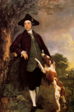 Portrait of George Vernables Vernon, 2nd Lord Vernon-Thomas Gainsborough