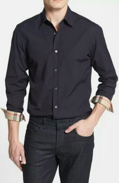 Burberry Brit Henry Trim Fit Stretch Cotton Sport Shirt $250
