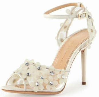 Daisy PVC Ankle Wrap Sandal