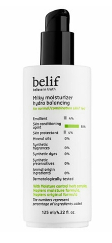 Belif Milky Hydra Balancing Moisturizer $38