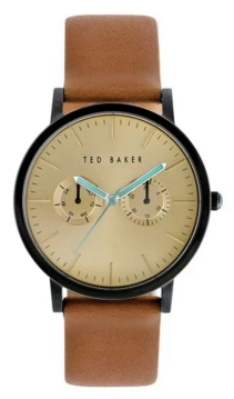 Ted Baker London Multi-function Leather Strap Watch $165