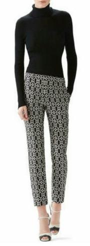 Cashmere Turtleneck Sweater & Octagonal Jacquard 1960s Pant