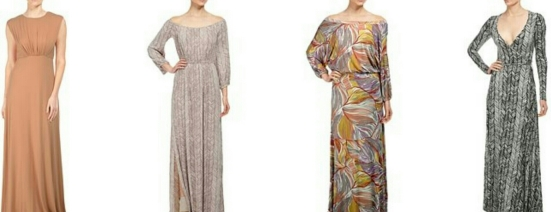 Left to Right: Brendalyn Dress, Freya Dress, Aurora Dress, Long Wrap Dress