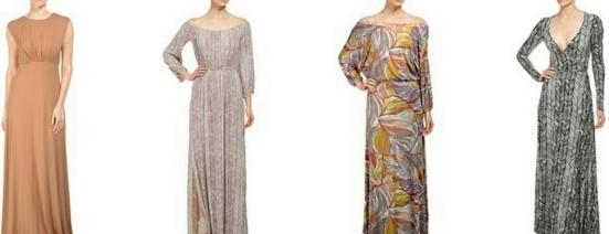 Left to Right: Brendalyn Dress, Freya Dress, Aurora Dress, Long Wrap Dress
