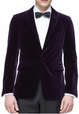 Burberry London Peak Lapel Velvet Evening Jacket $1,595