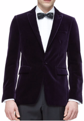 Burberry London Peak Lapel Velvet Evening Jacket $1,595