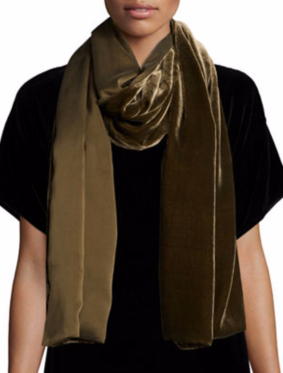 Eileen Fisher Washable Velvet Wrap Scarf $198