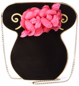 Charlotte Olympia Velvet Bouquet Clutch Bag $580