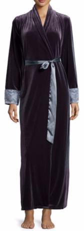 Jonquil Moonlight Velvet Long Wrap Robe $140