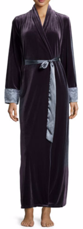 Jonquil Moonlight Velvet Long Wrap Robe $140