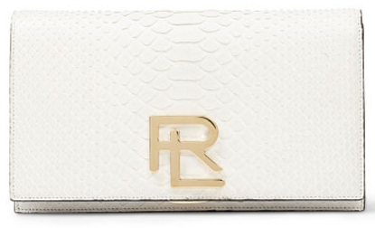 The RL Clutch in White Python