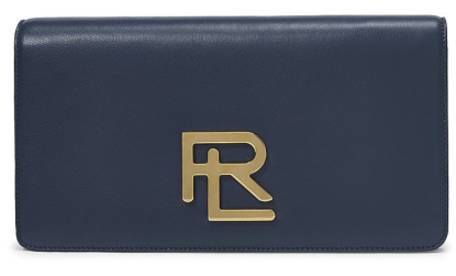 The RL Clutch in Navy Lambskin