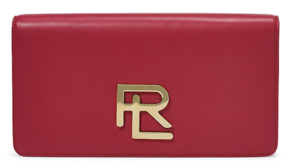 The Rl Clutch in Red Lambskin