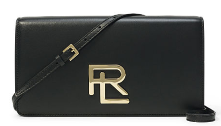 The RL Clutch in Black Nappa Leather