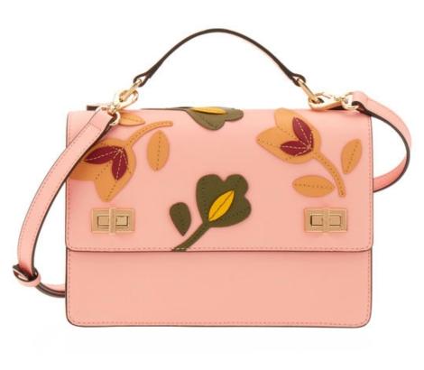 West 57th Floral Applique Schoolbag $350