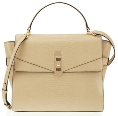 The Uptown Mini Lizard Satchel in khaki $328