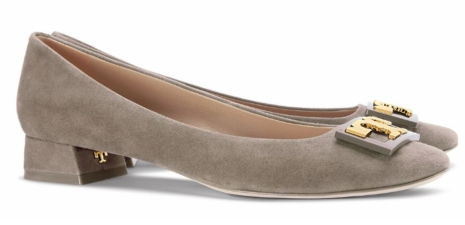 Tory Burch Suede Gigi Pump in French Gray $275
