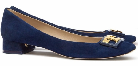 Tory Burch Suede Gigi Pump in Royal Navy $275