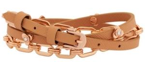 Petal Triple Wrap Bracelet in Rose Gold $88