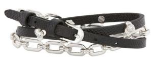 Petal Triple Wrap Bracelet in black $88