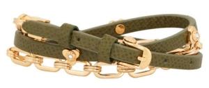 Petal Triple Wrap Bracelet in Dark Green $88